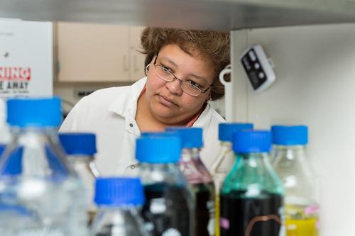 Rhonda Prisby is conducting research on bone biology. Photo by Evan Krape