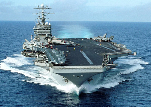 USS George Washington was engaged helping the typhoon victims. Image credit: U.S. Navy photo by Photographer's Mate 3rd Class Summer M. Anderson (Image source: Wikipedia)