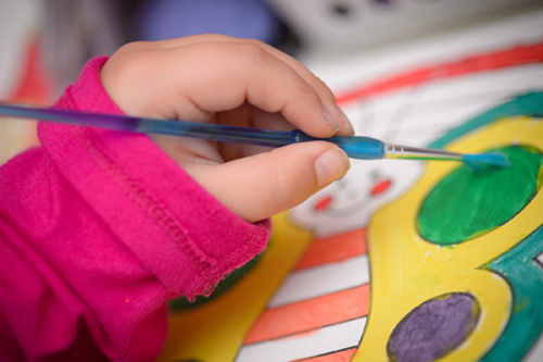 A child who paints has a greater chance of owning a patent or business when he or she grows up, according to new Michigan State University research. Photo by G.L. Kohuth