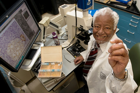 Akhouri Sinha investigates what happens after cancerous cells metastasize. Image credit: University of Minnesota