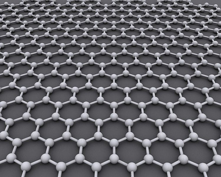 Graphene is an atomic-scale honeycomb lattice made of carbon atoms. Image credit: AlexanderAlUS (Image source: Wikipedia)