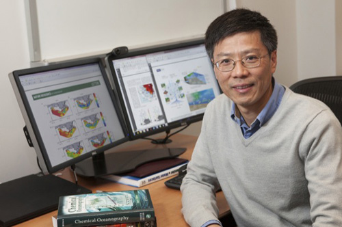 University of Delaware oceanographer Wei-Jun Cai is co-author of an article in Nature on major changes to carbon cycling in the coastal ocean. Photo by Ambre Alexander