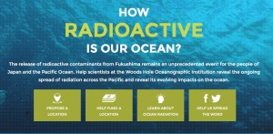 The Center for Marine and Environmental Radiation at the Woods Hole Oceanographic Institution has launched a citizen science website, ourradioactiveocean.org, to involve the public in the sampling, funding, and analysis needed to monitor radiation levels in seawater along the Pacific coast. Photo courtesy of Woods Hole Oceanographic Institution (Click image to enlarge)