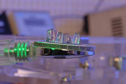 """UD researchers have developed a """"smart"""" gel that can deliver medicine on demand in response to force. Photo by Kathy F. Atkinson"""