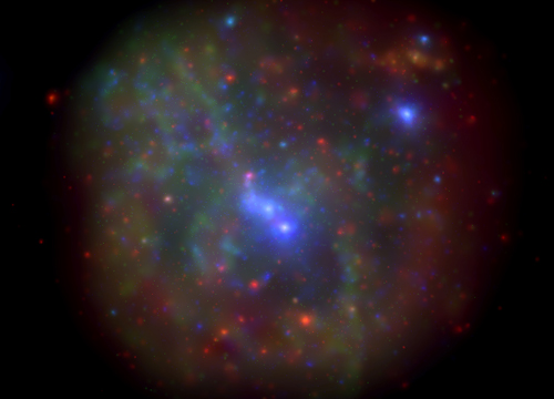The galactic center as imaged by the Swift X-ray Telescope. This image is a montage of all data obtained in the monitoring program from 2006-2013. Image credit: Nathalie Degenaar