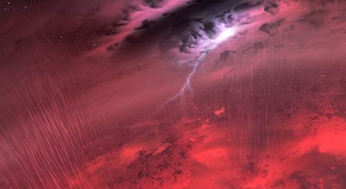 This artist's concept shows what the weather might look like on cool star-like bodies known as brown dwarfs. These giant balls of gas start out life like stars, but lack the mass to sustain nuclear fusion at their cores, and instead, fade and cool with time. Image credit: NASA/JPL-Caltech/University of Western Ontario/Stony Brook University