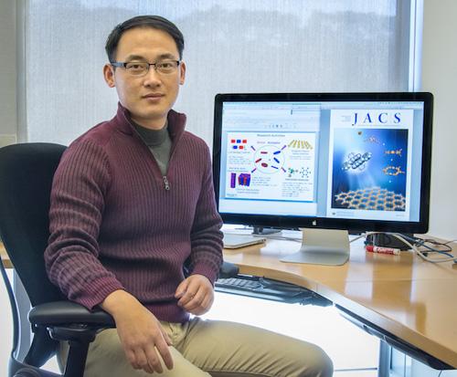 Yi Liu at the Molecular Foundry. (Photo by Roy Kaltschmidt)