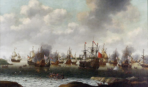 17th century anglo-dutch wars.  Image credit: Royal Greenwich Museums (Source: Wikipedia)