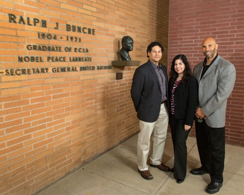 """(L to R) Zachary Price, Ana-Christina Ramon and Darnell Hunt, authors of the UCLA study """"2014 Hollywood Diversity Report: Making Sense of the Disconnect."""" Image credit: University of California"""