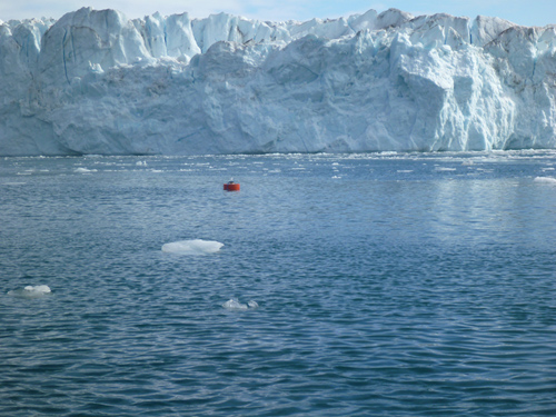 The Greenland Ice Sheet is a 1.7 million-square-kilometer, 2-mile thick layer of ice that covers Greenland. Over the past two decades, ice loss from the Greenland Ice Sheet increased four-fold contributing to one-quarter of global sea level rise. (Photo courtesy of Fiamma Straneo, Woods Hole Oceanographic Institution)
