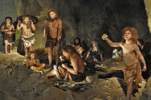 A diorama at the Neanderthal museum in Croatia. Image credit: Max Planck Institute