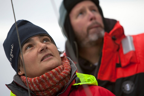 WHOI physical oceanographer Fiamma Straneo recently published a review paper in Nature that describes some of the mechanisms behind the melting of the Greenland Ice Sheet, which has increased four-fold contributing to one-quarter of global sea level rise. (Photo by Nick Cobbing, © Greenpeace International)