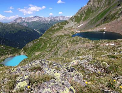 Faselfad-Seen bei St. Anton als Forschungsstandort. (Foto credit: Univ.-Prof. Ruben Sommaruga)