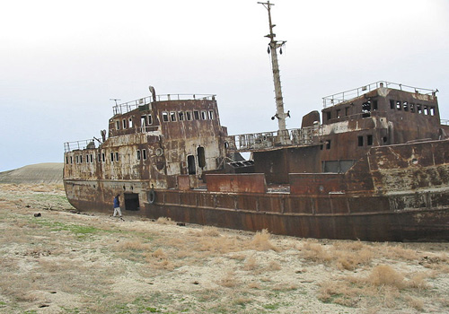 A relic of the vanishing Aral Sea. Image credit: Staecker (Source: Wikipedia)