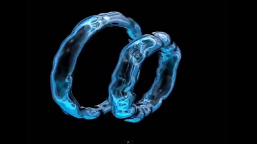 An example of a vortex ring, also called a toroidal bubble, which dolphins create under water. The concept of vortex rings lies at the heart of new University of Washington physics research. Image credit: University of Washington