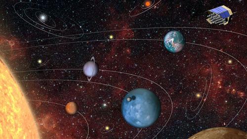 Weltraumteleskop PLATO. Image credit: DLR