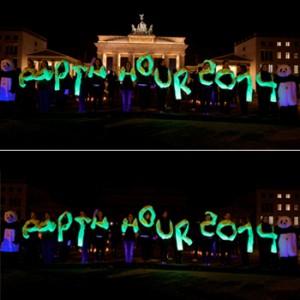 Am 29. März fand die achte Earth Hour statt - auch am Brandenburger Tor. Image credit:  © Kay Herschelmann / WWF