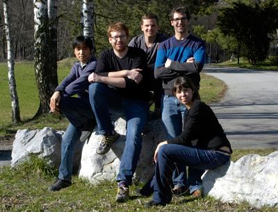 Das Erbium Team (v.l.): Kiyotaka Aikawa, Albert Frisch, Simon Baier, Michael Mark und Francesca Ferlaino (Foto credit: Erbium Team)