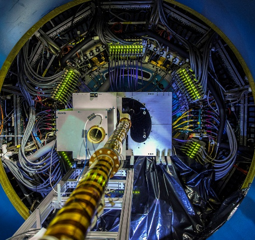 The Heavy Flavor Tracker is the newest member of the STAR detector family at the Relativistic Heavy Ion Collider (RHIC). The addition of the HFT will be a boost for studies of the quark-gluon plasma. (Photo courtesy of Brookhaven National Laboratory)