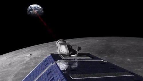 Lasersignal von der Mondsonde zur Erde. Image credit: DLR