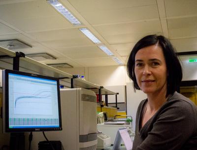 Dr. Margit Egg im Labor am Institut für Zoologie. Image credit: Universität Innsbruck