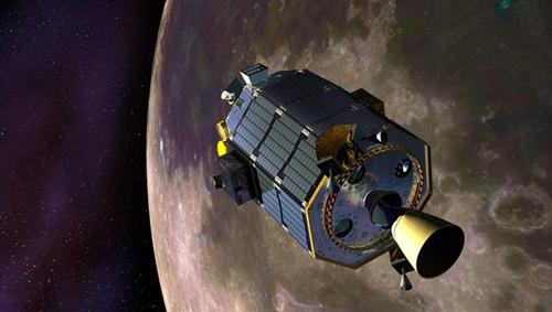 NASA-Sonde LADEE am Mond. Image credit: DLR