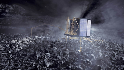 Philae: Landung auf einem Kometen. Image credit: DLR