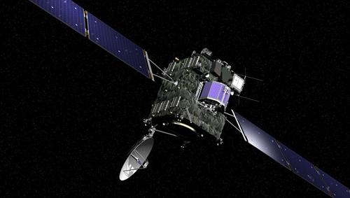 Rosettasonde mit Philae-Lander an Bord. Image credit: DLR