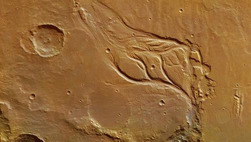 Die Osuga-Täler auf dem Mars. Image credit: DLR