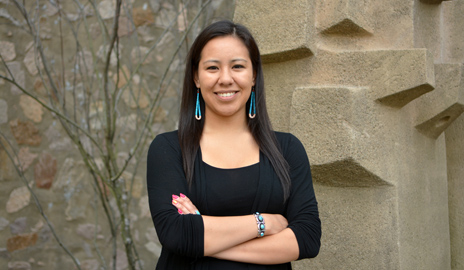 Dinée Dorame is one of four undergraduates in the nation to win the Udall Foundation's 2014 Native American Congressional Internship. (Photo by Michael Marsland)