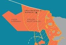 Lage des Offshore-Windparks. Image credit: NABU.de