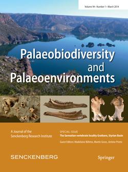 Cover der aktuellen Ausgabe Paleobiodiversity and Paleoenvironments. Image credit: © Springer
