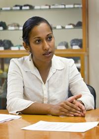 UCLA professor Aradhna Tripati. Image credit: Reed Hutchinson/UCLA