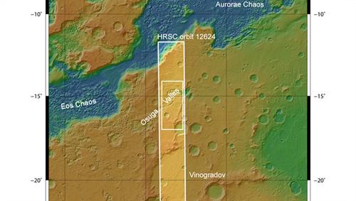 Übersichtskarte über Osuga Valles. Image credit: DLR