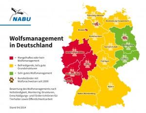 Wolfmanagement in Deutschland. Image credit: NABU.de (zum Vergrößern bitte klicken).