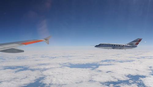 Rund um die Welt im Einsatz: Falcon 20E. Image credit: DLR