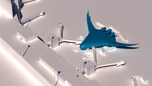 Flugzeug der Zukunft: Blended Wing Body. Image credit: DLR