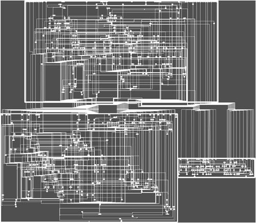 Genomisches metabolisches Netzwerk der Acker-Schmalwand. Image credit: Universität Wien