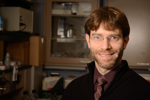 Joshua Bartoe is an assistant professor in MSU's College of Veterinary Medicine. Photo by G.L. Kohuth.