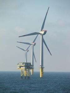 Der Baulärm der Offshore-Windanlagen vertreibt die Schweinswale. Image credit: SteKrueBe (Source: Wikipedia)