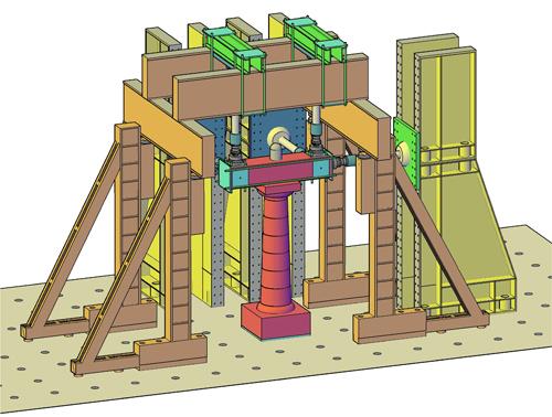 Schematische Darstellung des Versuchsaufbaus mit Säule (Bild credit: Uni Kassel)