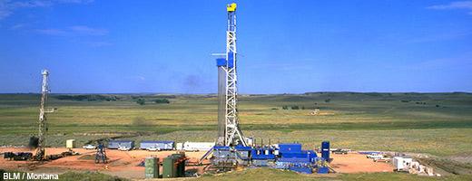 Fracking-Förderanlage in den USA (Montana). Image credit: NABU.de