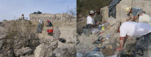 Archäologen bei der Arbeit an der Ausgrabungsstätte El Fin del Mundo in der Sonora-Wüste im Nordwesten Mexikos. Fotos credit: Susan Mentzer/Universität Tübingen