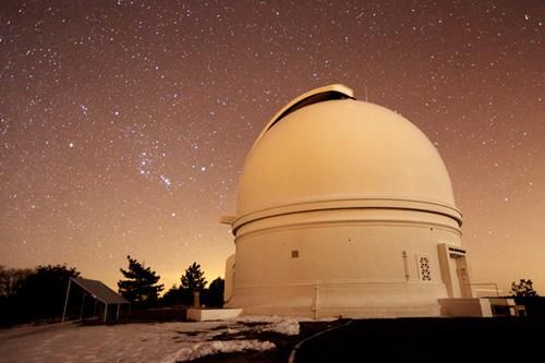 The Palomar 48 inch telescope. (Photo by: Iair Arcavi, Weizmann Instiute of Science)