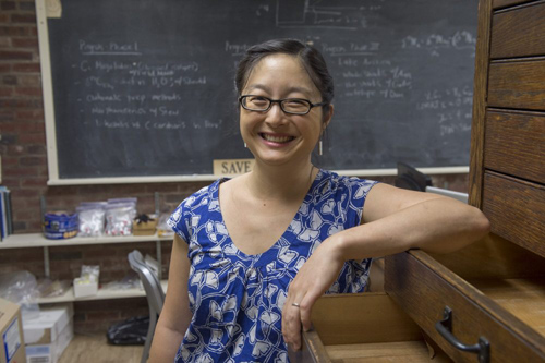 Sora Kim is the T.C. Chamberlin Postdoctoral Fellow in Geophysical Sciences at the University of Chicago. In her latest study, she examined environmental conditions of the Arctic Ocean during the Eocene epoch (38 to 53 million years ago), as a prehistoric proxy for what could happen to the region if modern Earth experiences a runaway greenhouse effect. Photo by Robert Kozloff