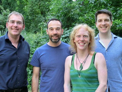 v.l.n.r.: Wolfram Weckwerth, Jürg Schönenberger, Agnes Dellinger, Yannick Staedler (Image copyright: Anke Bellaire).