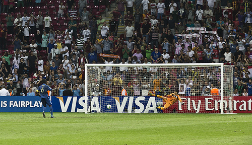 French penalty against Uraguay in the 2013 U-20 World Cup final (Image credit: Eser Karadağ, Source: Flickr)