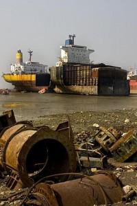 Ship breaking in Chittagong, Bangladesh. Image credit: Naquib Hossain (Source: Wikipedia)