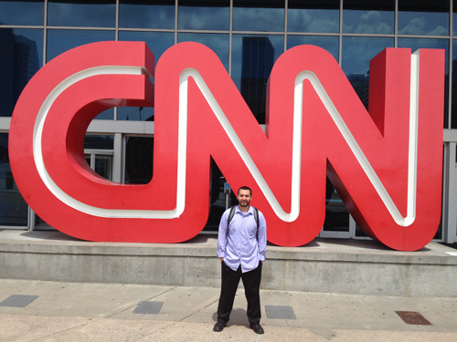 """I learned so much from interning at the world headquarters for one of the biggest news stations."" (Photo courtesy of Amer Taleb)"
