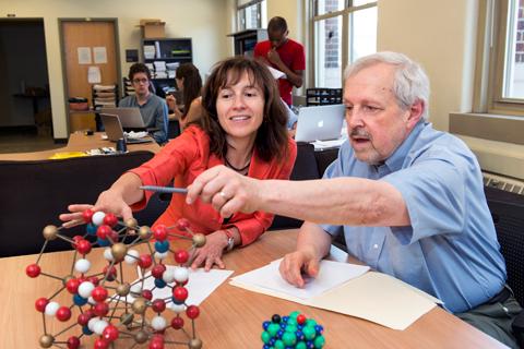 Chemistry professors Laura Gagliardi and Don Truhlar rank among the world's leading computational chemists. Image credit: University of Minnesota